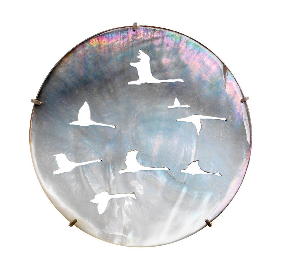 Marian Hosking, Pied geese, broche, 2005. Collectie Daalder. Foto met dank aan Art Gallery of South Australia, Grant Hancock©