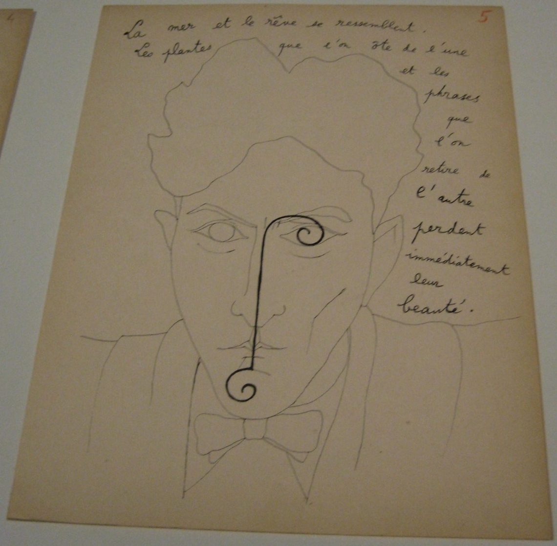 Jean Cocteau, zelfportret. Foto Esther Doornbusch, 2 december 2018, CC BY 4.0