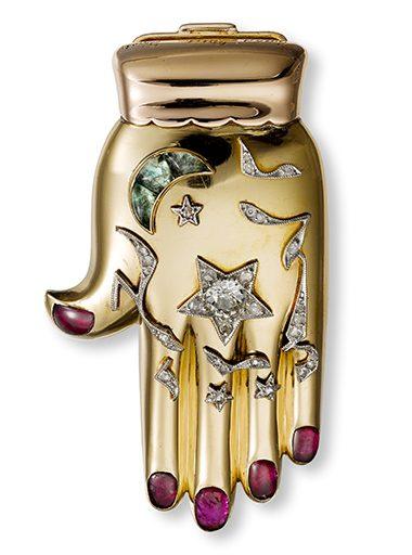 Cartier, Hand van Fatima, broche, 1940. Foto met dank aan Museo del Gioiello©