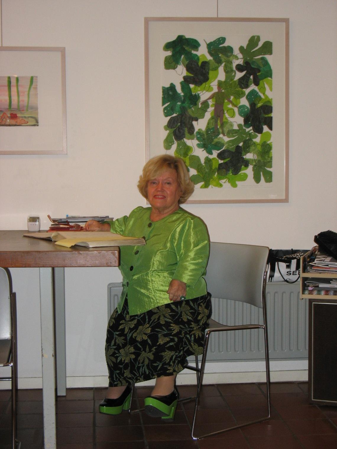 Martha Haveman in de galerie, 2012. Foto met dank aan Galerie Beeld & Aambeeld©
