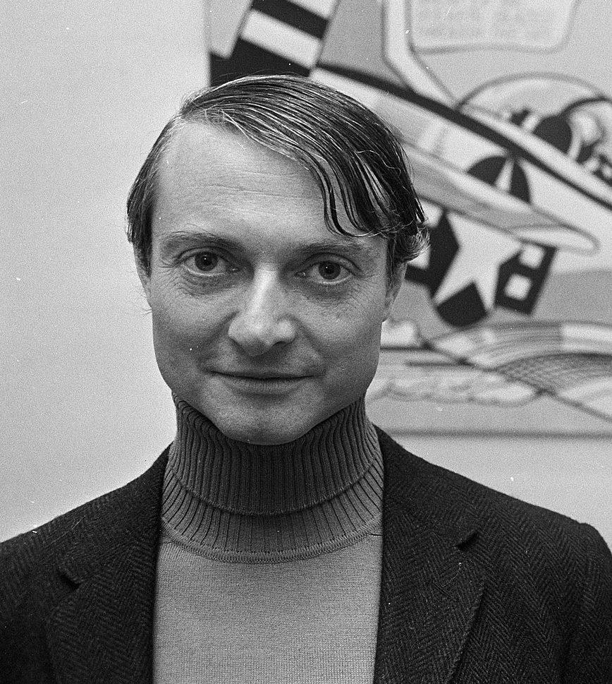 Roy Lichtenstein. Foto met dank aan Wikimedia, Photo Collection Anefo, Nationaal Archief, CC0 1.0