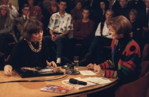 Marie-José van den Hout te gast bij Sonja Barend, 1989. Foto met dank aan Galerie Marzee©