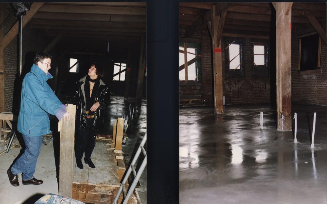 Verbouwing van het graanpakhuis aan de Waalkade, 1995. Foto met dank aan Galerie Marzee©