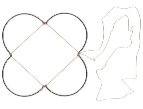 Rebekah Frank, Necklace 1, Just Add Flesh Series, halssieraad, 2019. Foto met dank aan Ornamentum Gallery©