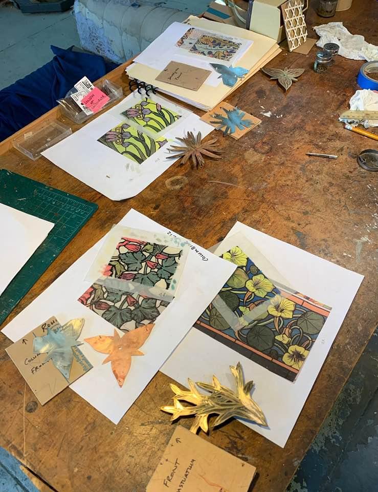 In het atelier van Bruce Metcalf, juli 2019. Foto met dank aan Bruce Metcalf©