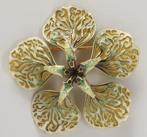 René Lalique, broche, circa 1899. Collectie Hessisches Landesmuseum. Foto met dank aan Hessisches Landesmuseum, Wolfgang Fuhrmannek©