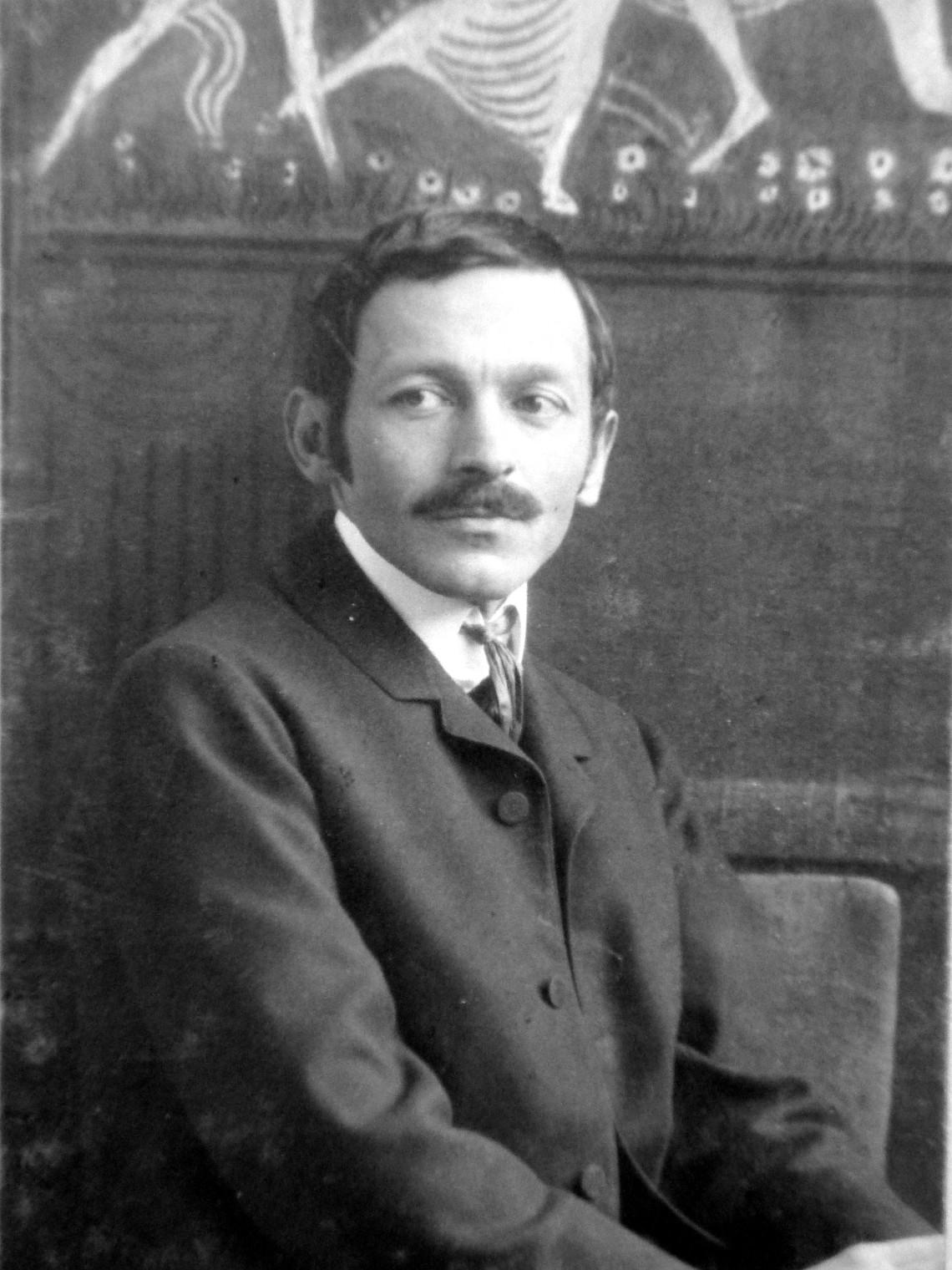Portret Ignatius Taschner, circa 1900. Foto uit familiebezit. Foto met dank aan Wikimedia Commons, Ignaz Fischer-Kerli, CC BY-SA 4.0