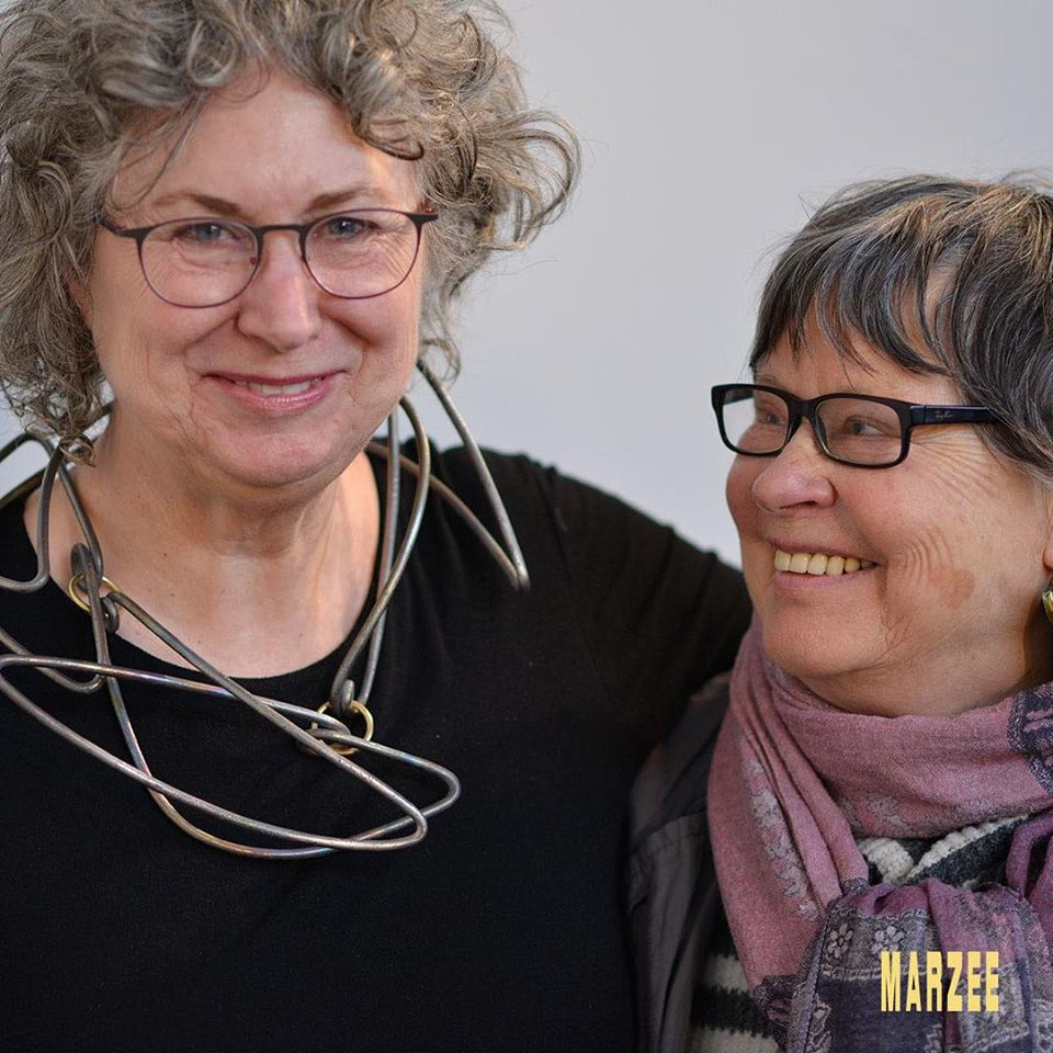 Susan Cummins en Dorothea Prühl, maart 2019. Foto met dank aan Galerie Marzee©