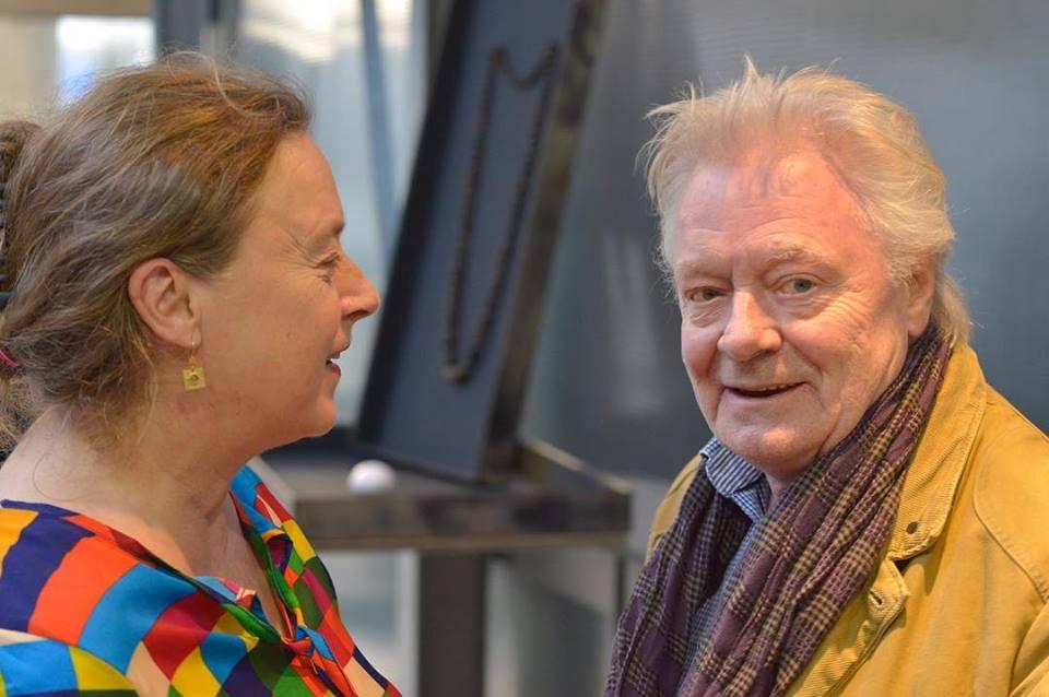 Julie Mollenhauer en Robert Smit in Galerie Marzee, 2018. Foto met dank aan Galerie Marzee©