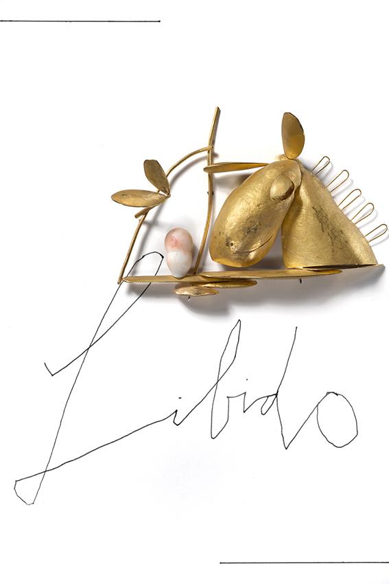 Manfred Bischoff, Libido, broche, 2012. Foto met dank aan manfred bischoff estate, Federico Cavicchioli©
