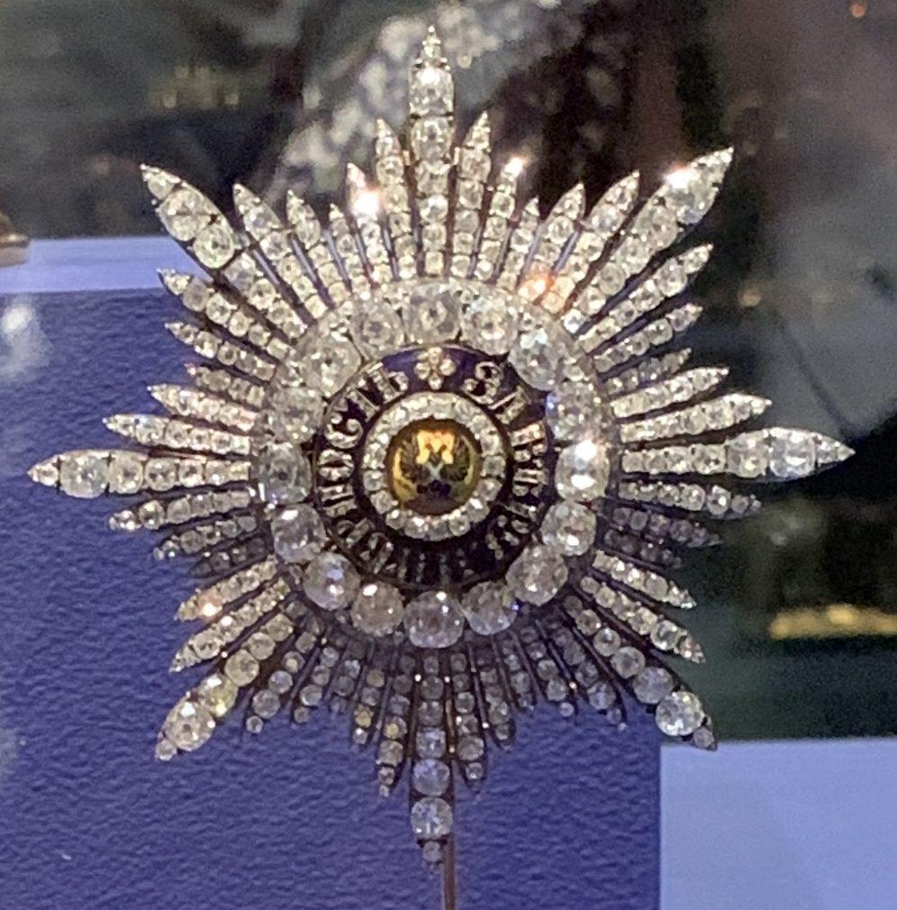Juwelen! Hermitage Amsterdam, 2019. Kämmerer & Seftigen, Orde van Sint Andreas de Eerstgeroepene, circa 1800. Foto met dank aan SAF, Astrid Berens©