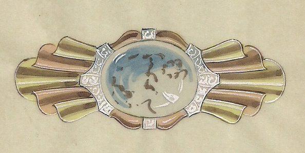 Emil Heidolph, ontwerptekening, 1880-1930. Foto met dank aan Grafische Sammlung Stern©