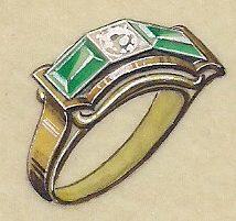 Emil Heidolph, ontwerptekening ring, 1880-1930. Foto met dank aan Grafische Sammlung Stern©