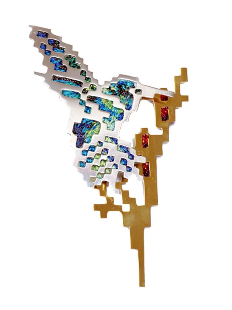 Heng Lee, The Weight of a Hummingbird, broche, 2018. Foto met dank aan CODA©