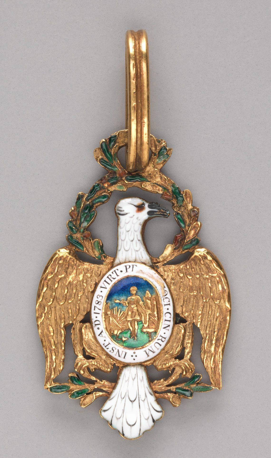 Pierre Charles l'Enfant, badge, circa 1783. Collectie Metropolitan Museum of Art, 35.46a, b. Foto met dank aan Metropolitan Museum of Art©