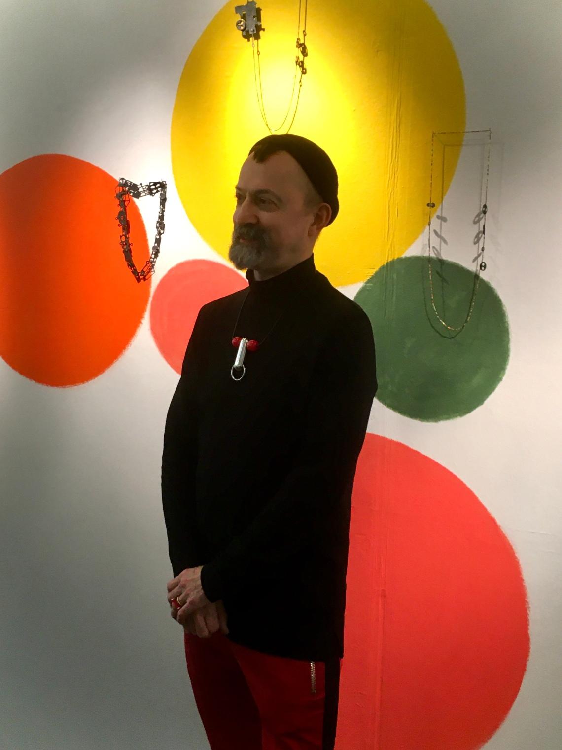 Paul Derrez in Galerie Ra, 21 december 2019. Foto met dank aan Birgit Laken©