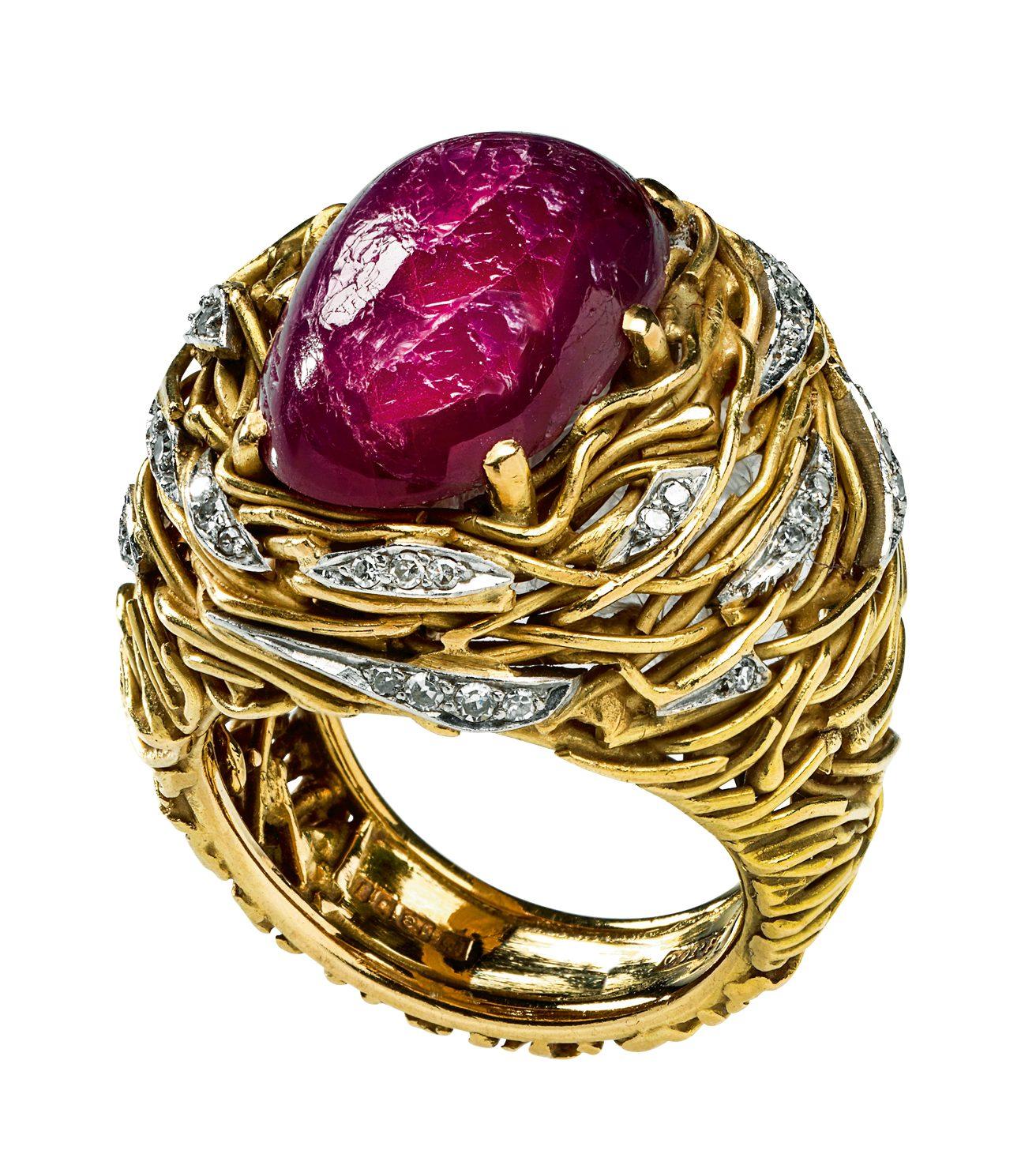 Andrew Grima, ring, 1964. Collectie Alice & Louis Koch. Foto met dank aan Donat Stuppan, Schweizerisches Nationalmuseum©