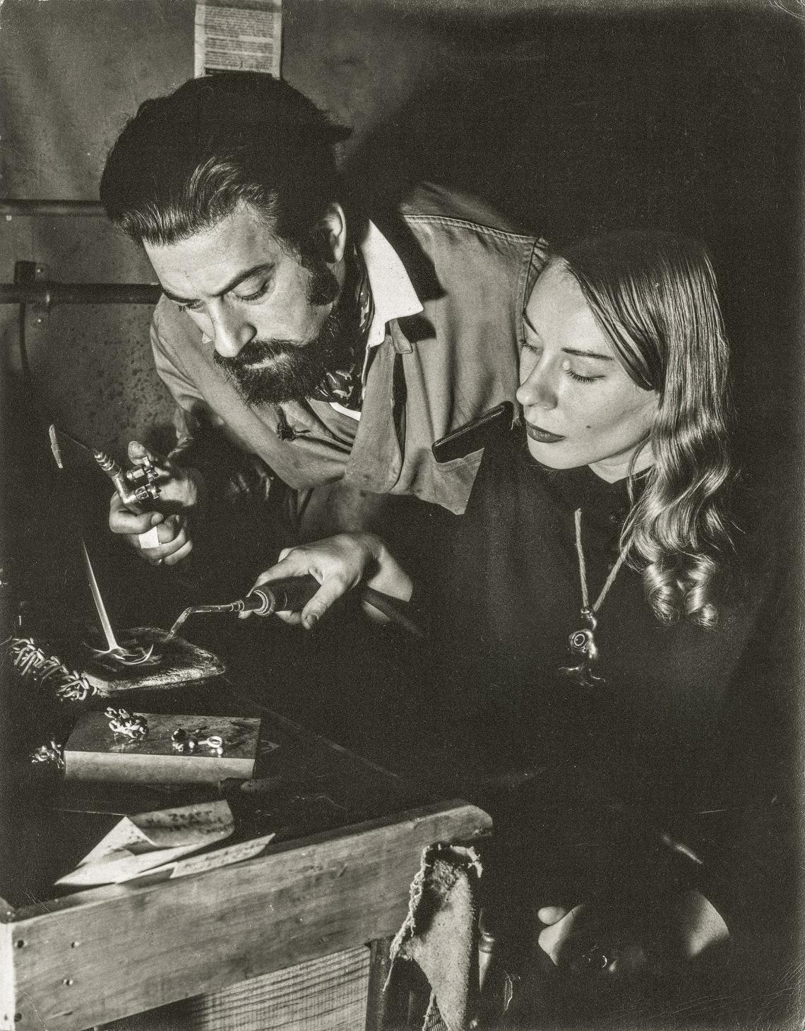 Saul Dash, Sam and Carol Kramer, 1940-1949, portret